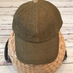 Free People Woven jute ball cap